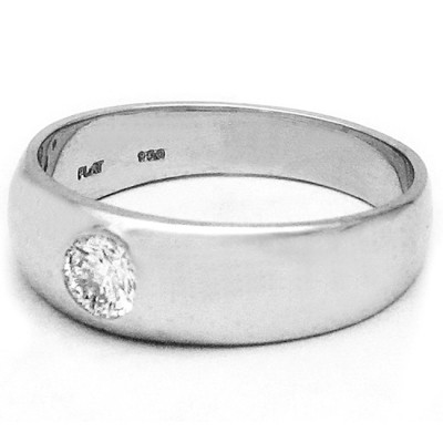 Mens Platinum Diamond Ring