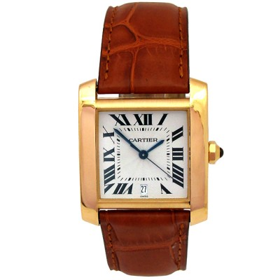 Unisex Cartier 18K Yellow Gold Tank Francaise Watch