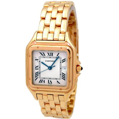 Midsize Cartier 18k Yellow Gold Panthere Watch