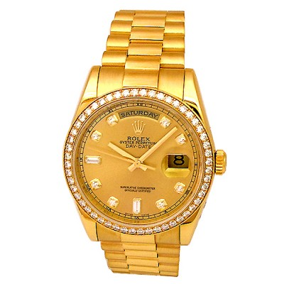 36mm Rolex 18k Yellow Gold Crown Collection Daydate 118348.