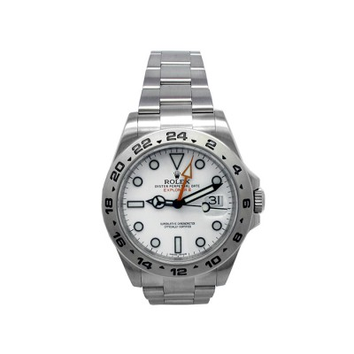40mm Rolex Stainless Steel Oyster Perpetual Explorer II Watch 216570