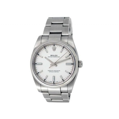 34mm Rolex Stainless Steel Oyster Perpetual Watch 114200
