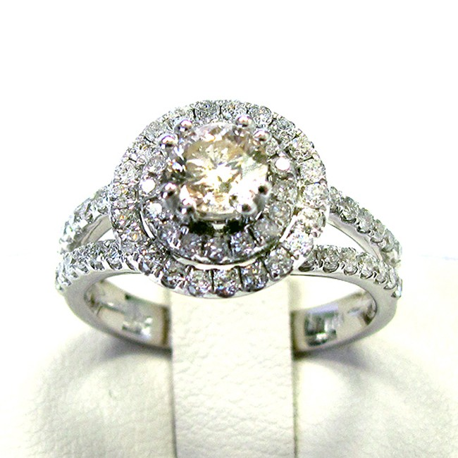 Ladies 14k White Gold Engagement Diamond Ring