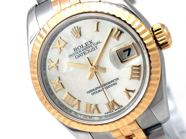 26mm Rolex Two Tone Datejust Mother of Pearl Roman Numeral