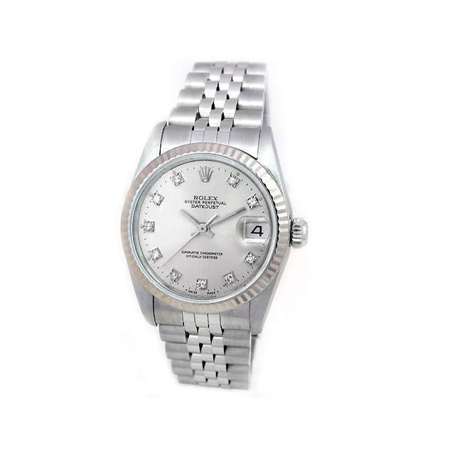 31mm Rolex Stainless Steel Datejust  with Diamonds 68274