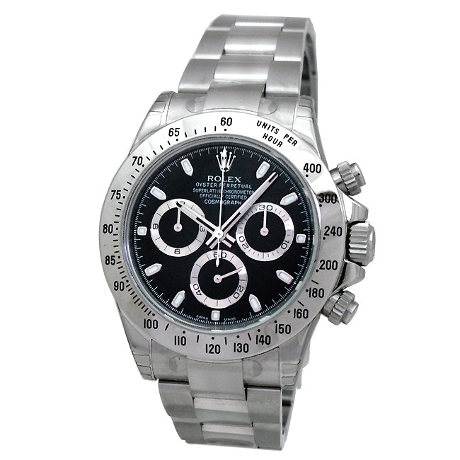 40mm Rolex Stainless Steel Oyster Perpetual Daytona Cosmograph Watch 116520