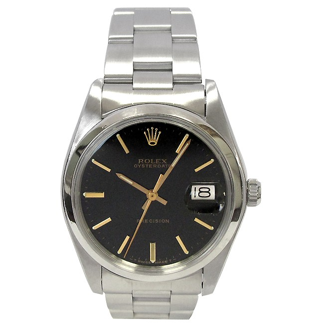 34mm Midsize Rolex Stainless Oyster Precison Date Watch 6694.