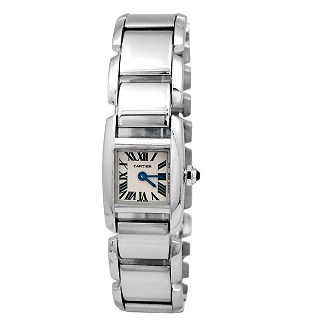 Small Cartier 18K White Gold Tankissime Watch W650029H.