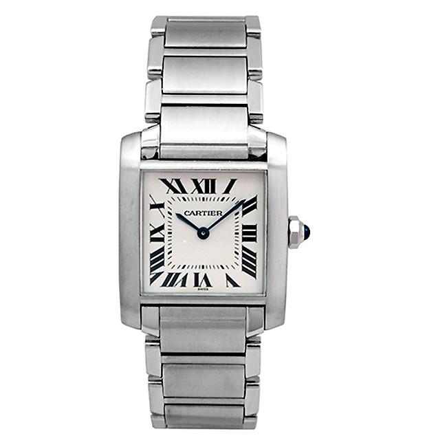 Midsize Cartier Stainless Steel Tank Francais Watch WSTA0005