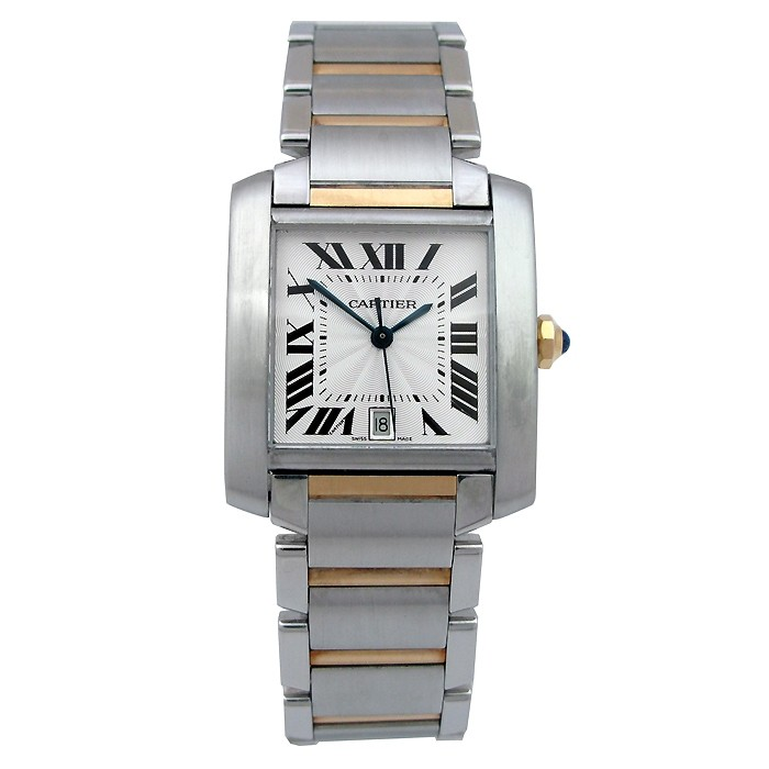 Large Cartier Two-Tone Tank Francaise Watch W51005Q4