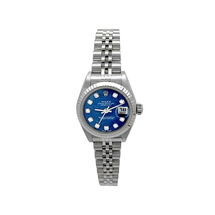 26mm Rolex Stainless Steel Oyster Perpetual Datejust Watch 79174