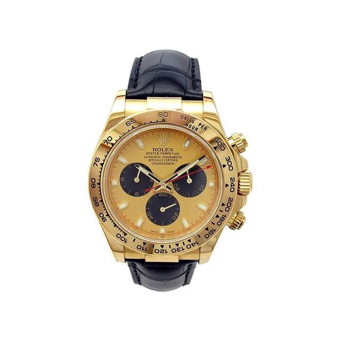 40mm Rolex 18k Yellow Gold Oyster Perpetual Daytona Watch 116518