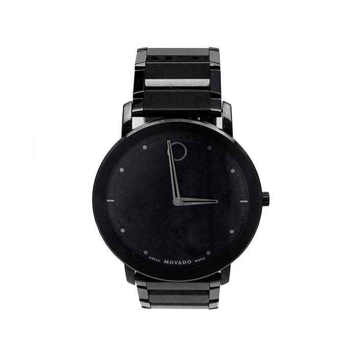 40mm Movado Stainless Steel PVD Watch