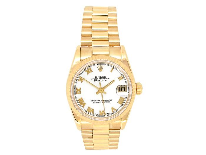 Rolex 18k Yellow Gold Datejust Watch 34640