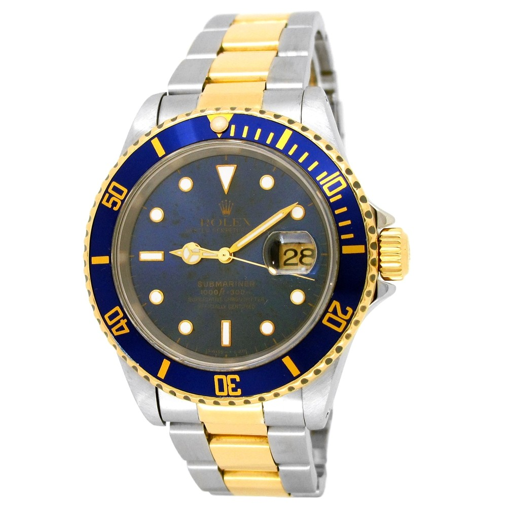40mm Rolex 18k Yellow Gold and Stainless Steel Oyster Perpetual Submariner Watch