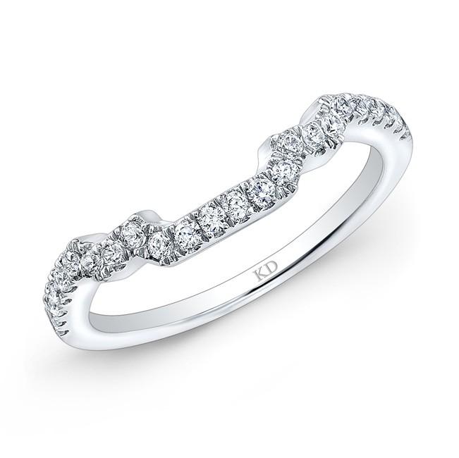 14K SINGLE ROW WHITE DIAMOND WEDDING BAND