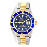 40mm Rolex Two-Tone Submariner  Blue 16613