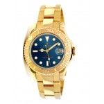 40mm Rolex Yachtmaster Gold Blue Dial 16628