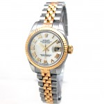 26mm Rolex Two Tone Datejust Mother of Pearl Roman Numeral 179173.