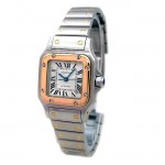 Small  Cartier Two Tone Santos Galbee