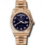 36mm Rolex 18k Rose Gold Daydate 118235.