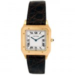 Small Cartier 18K Yellow Gold Santos Dumont Watch