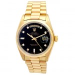 36mm Rolex 18K Gold Daydate with Diamond Dial 18038