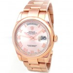 36mm Rolex 18K Rose Gold Daydate 118205