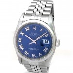 36mm Rolex Datejust Blue Roman 16200.