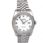 36mm Rolex Steel Datejust White Roman 116234.