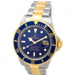 40mm Rolex Two-Tone Submariner Blue 16613.