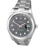 41mm Rolex Datejust II Watch  with Diamond Dial 116300.