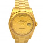 36mm Rolex 18k Gold Daydate 118208