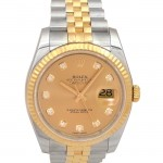 36mm Rolex Two-Tone Datejust Diamond Dial 116233.