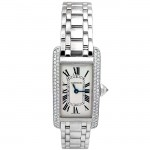 Small Cartier White Gold Tank Americane with Diamonds WB7018L1.