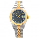 26mm Rolex Two-Tone Datejust Black Jubilee Arabic  69173.