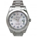 41mm Rolex Stainless Datejust II Silver Arabic Numeral 116300.