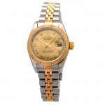 26mm Rolex Two-Tone Datejust Champagne Roman 69173