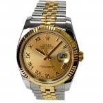 36mm Rolex Two-tone Datejust Champagne Roman 116233.