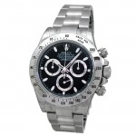 40mm Rolex Stainless Daytona Black 116520.