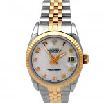 31mm Rolex Two-Tone Datejust Silver Jubilee Arb Dial 68273.