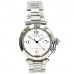 35mm Midsize Cartier Stainless Pasha C Watch W31074M7.