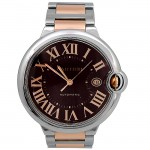 42mm Cartier 18K Rose Gold Two-Tone Ballon Bleu Chocolate-colored W6920032