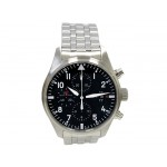 43mm  IWC Schaffhausen Stainless Steel Pilot Chronograph IW377704