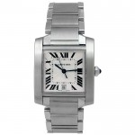 Large Cartier Stainless Tank Francaise  W51002Q3.