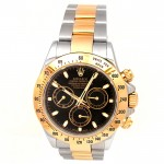 40mm Rolex Two-Tone Daytona Black 116523.