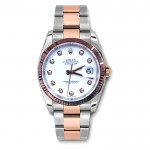 36mm Rolex 18K Rose Gold & Stainless Datejust Diamond Dial 116231.