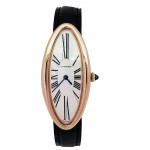 22mm Cartier 18K Rose Gold Baignoire Alongee Watch.