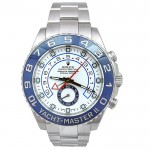 44mm Rolex Stainless Steel Oyster Perpetual Yachtmaster II Watch 116680