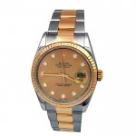 36mm Rolex Two-Tone Datejust with Diamond Dial 16233.